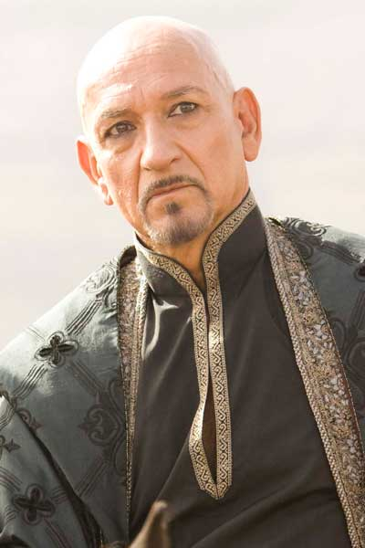 Ben Kingsley on the set of Prince of Persia