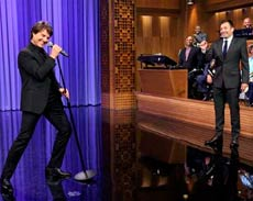 La batalla musical de Tom Cruise y Jimmy Fallon