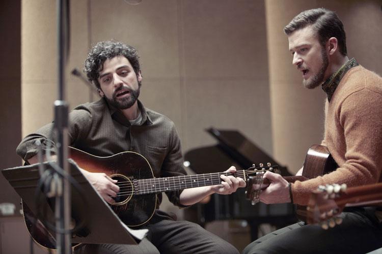 Oscar Isaac y Justin Timberlake en A propósito de Llewyn Davis