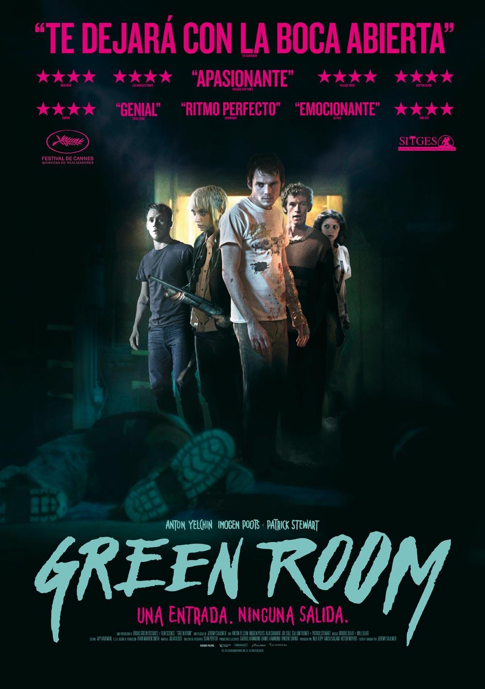 Green room cartel de la pelcula for La habitacion pelicula 2016