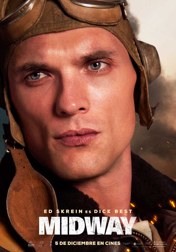 Midway - cartel Ed Skrein es Dick Best