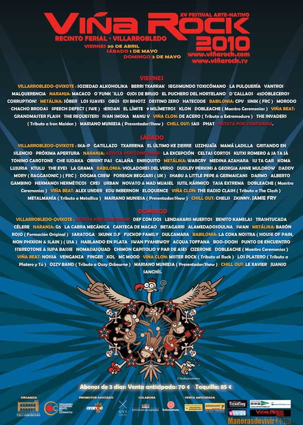 Viña Rock 2010 cartel