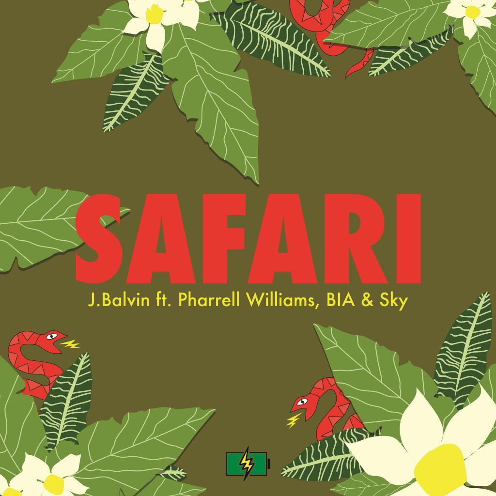 J balvin con pharrell williams bia y sky safari la for J balvin portada