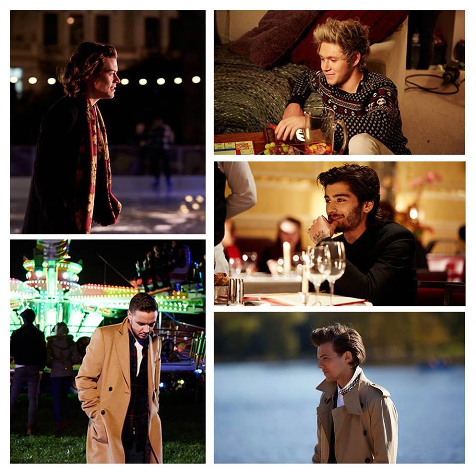 Fotogramas de las 5 tramas del videoclip de Night changes de One Direction