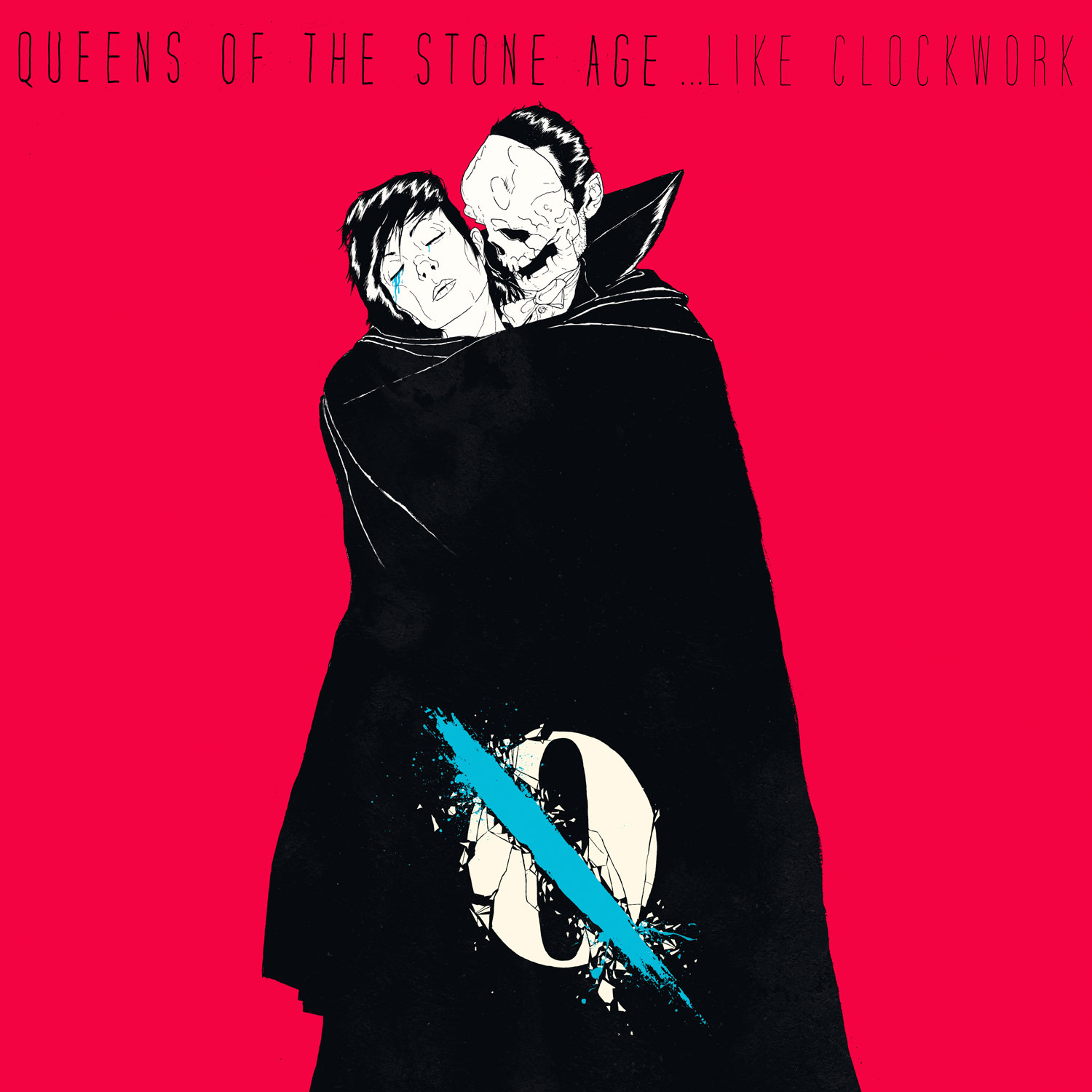 Like clockwork, la carátula del sexto disco de Queens of the Stone Age