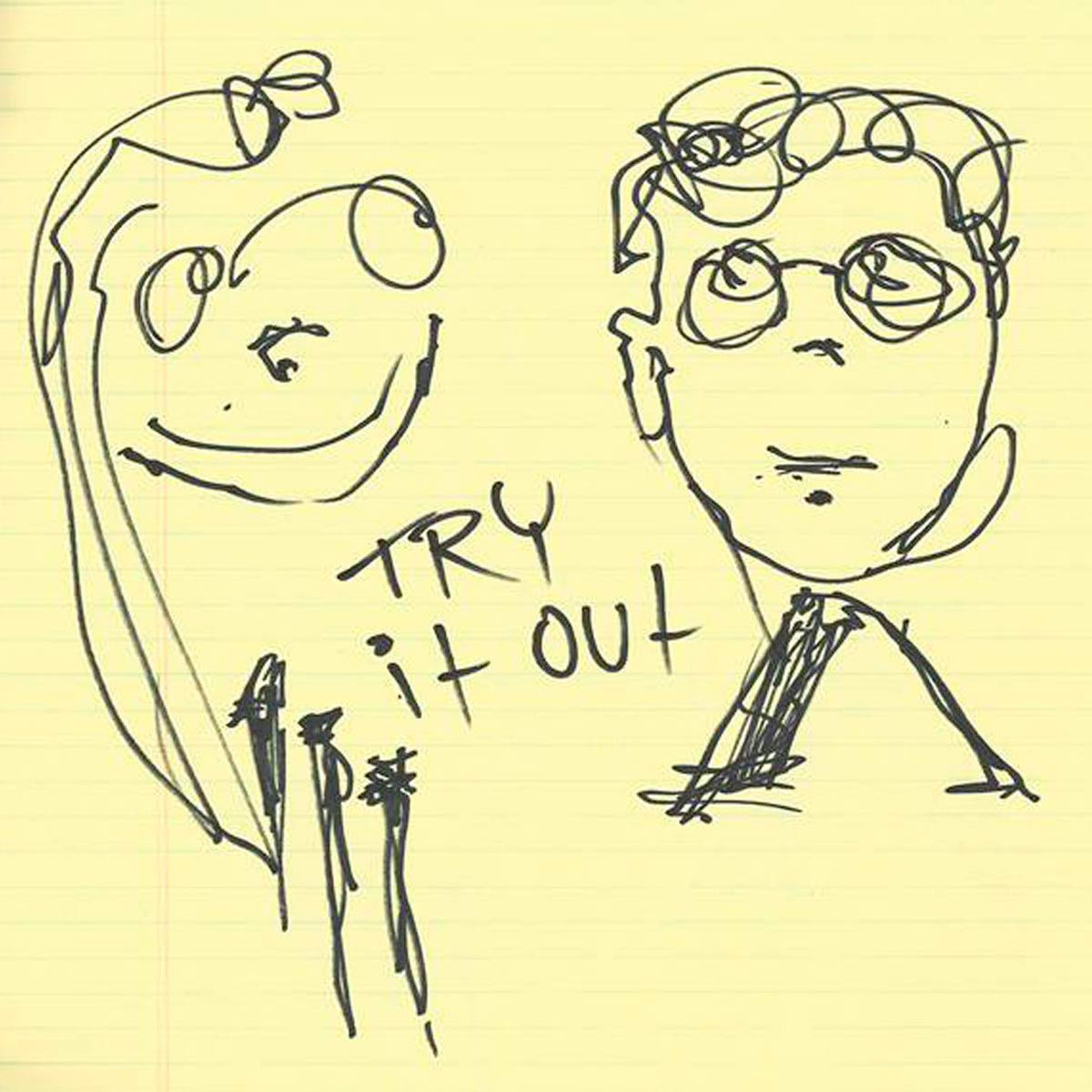 Skrillex con Alvin Risk: Try it out, la portada de la cancin