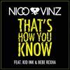 Nico & Vinz: That's how you know - portada reducida