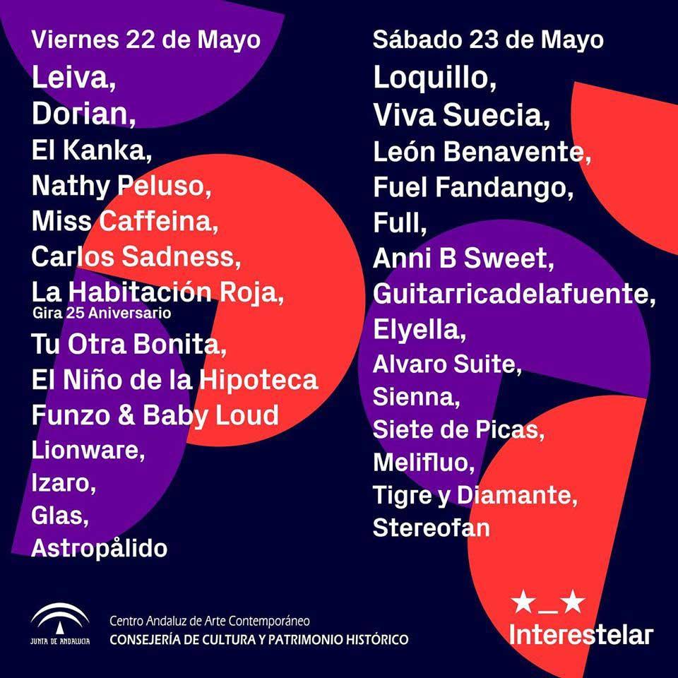 Cartel por días del Interestelar Sevilla 2020