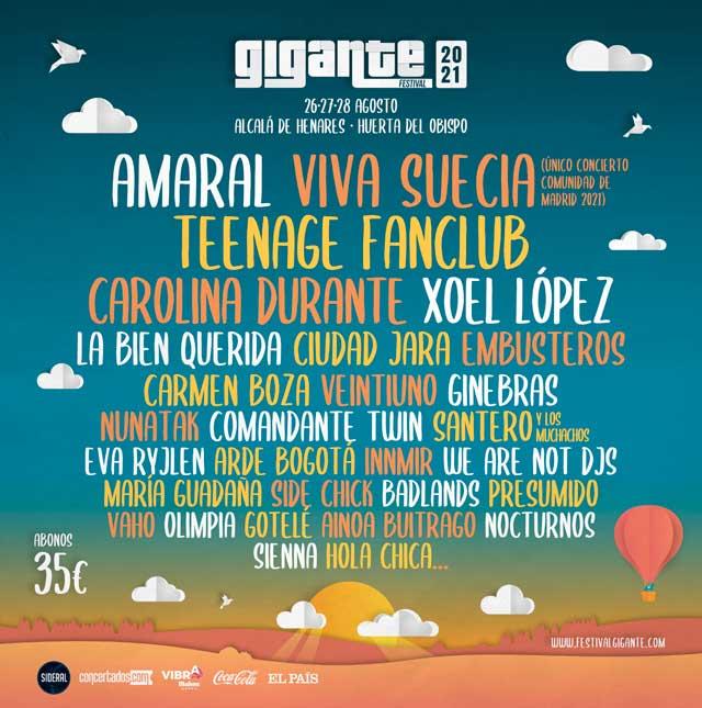 Cartel del Festival Gigante 2021