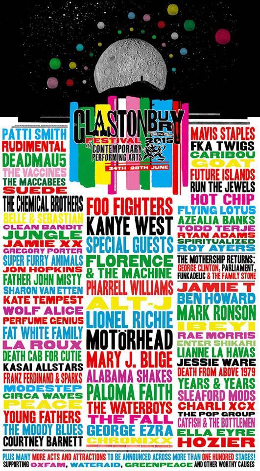 Cartel del Festival de Glastonbury 2015