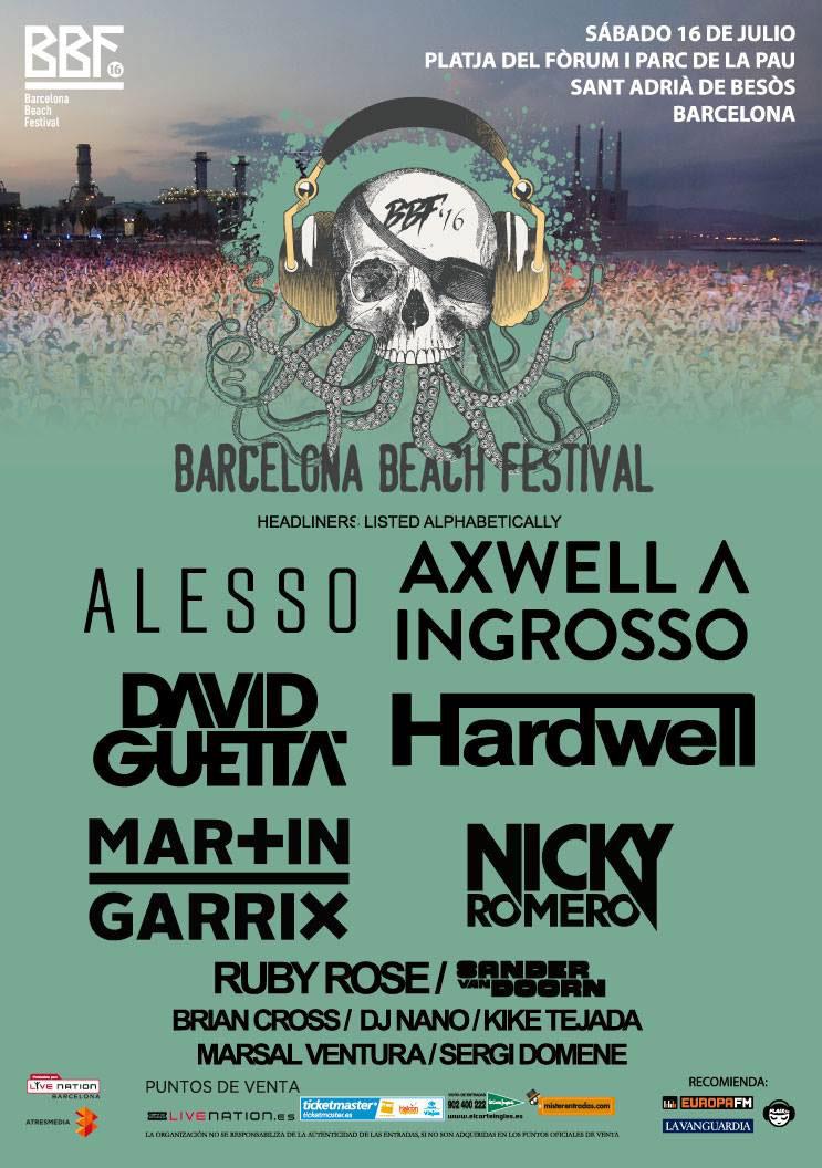 Cartel Barcelona Beach Festival 2016