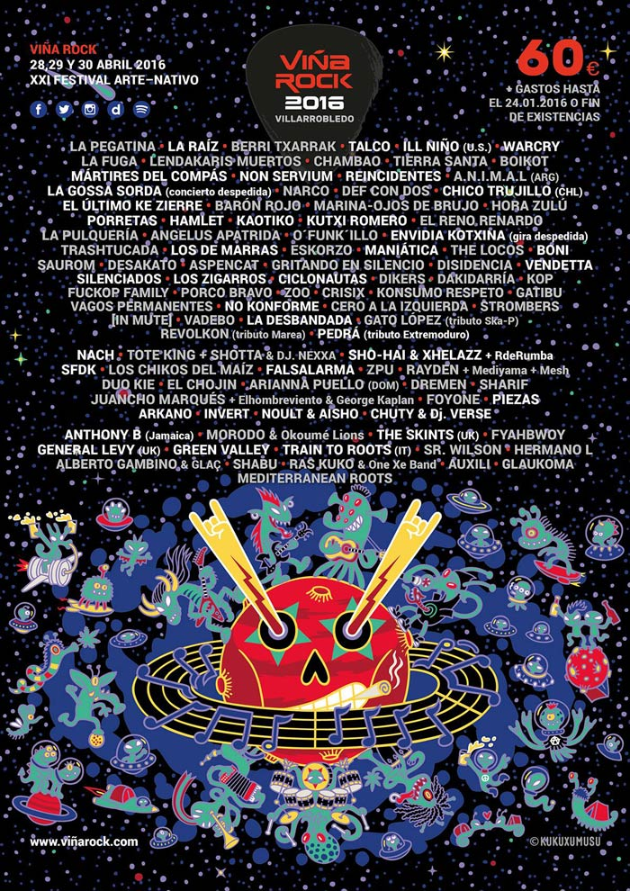 Cartel completo del Viña Rock 2016
