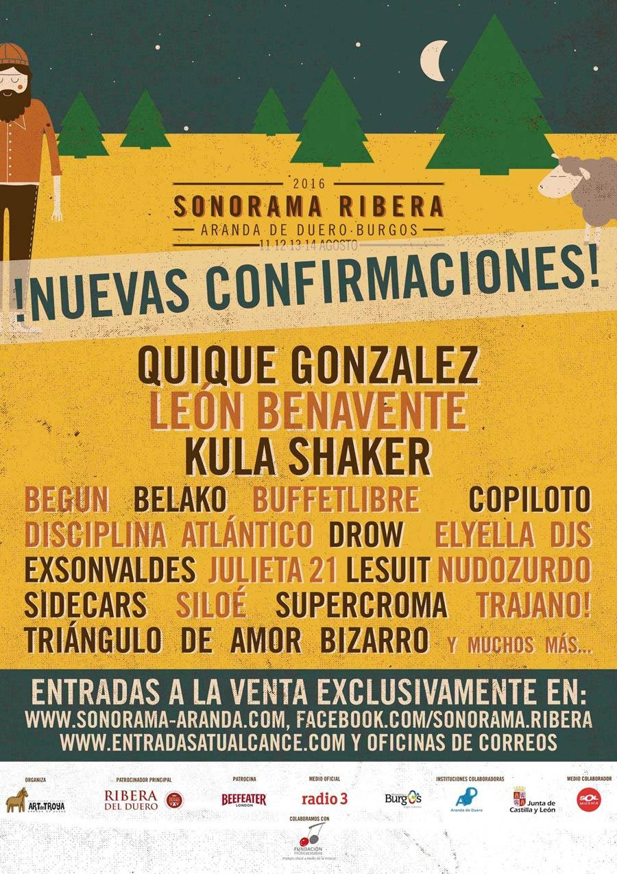 Confirmaciones para el Sonorama 2016 del 12 de febrero