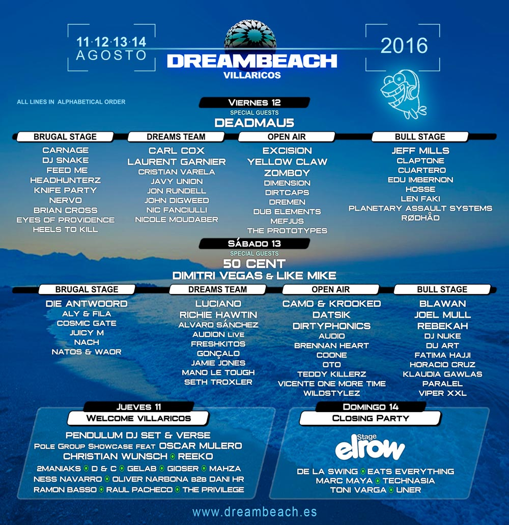 Cartel del Dreambeach Villaricos 2016