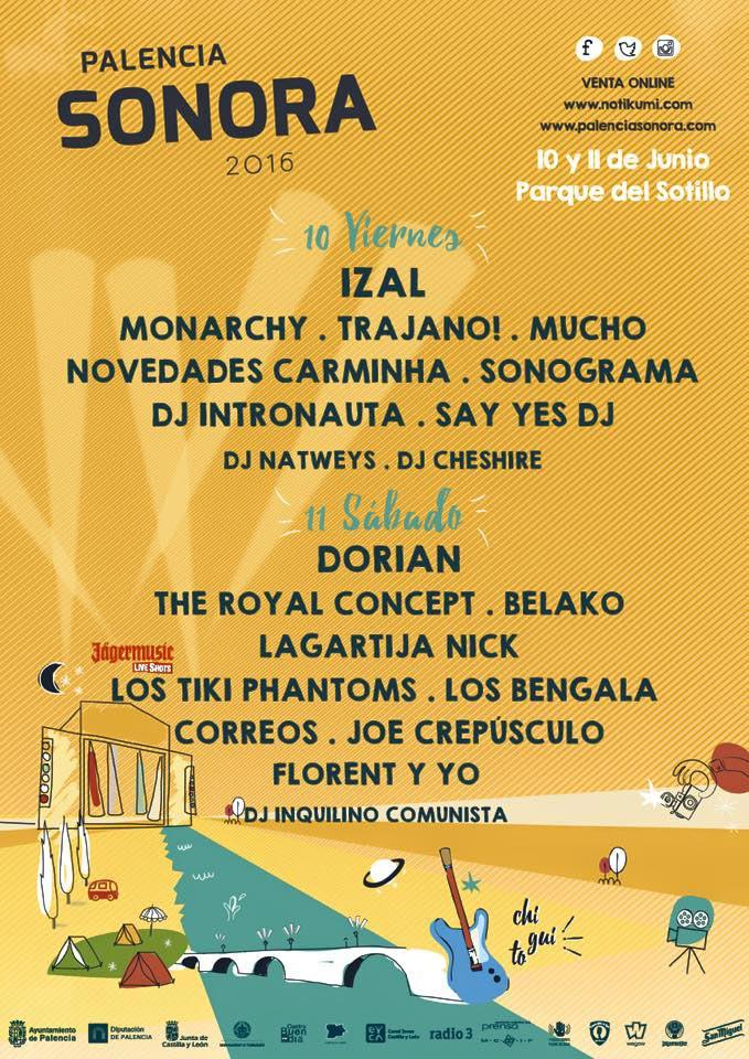 Cartel Palencia Sonora 2016