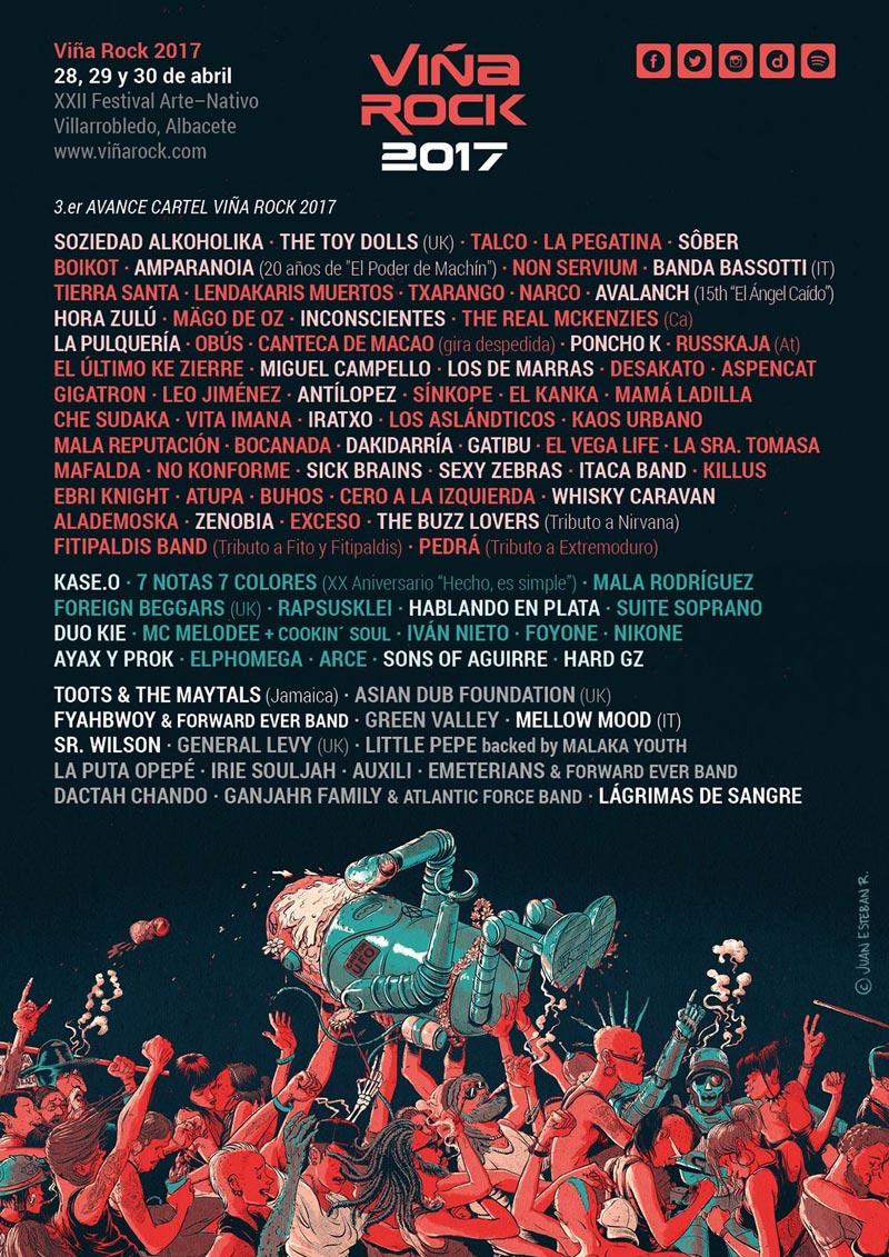 Cartel tercer avance Viña Rock 2017