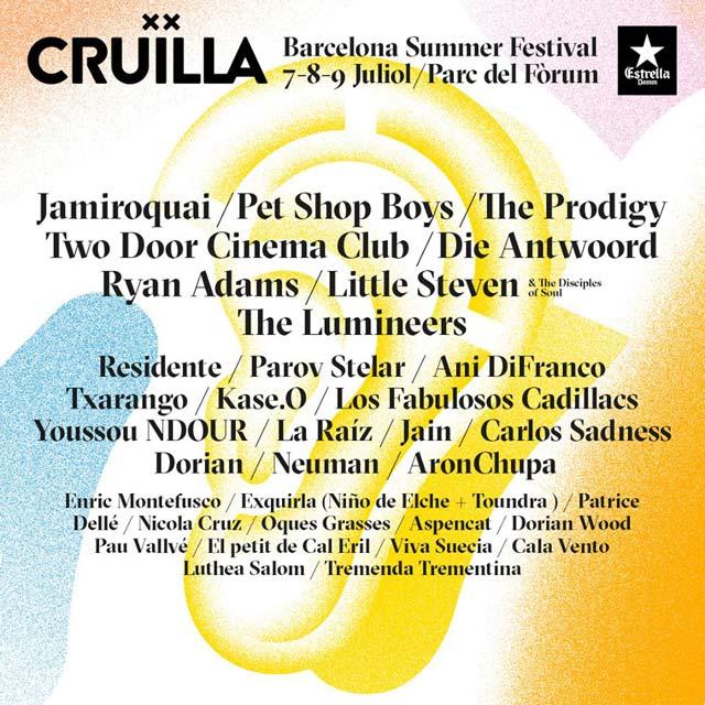 Cartel del Festival Cruïlla 2017