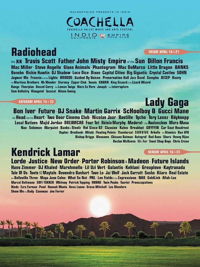 Cartel del Festival de Coachella