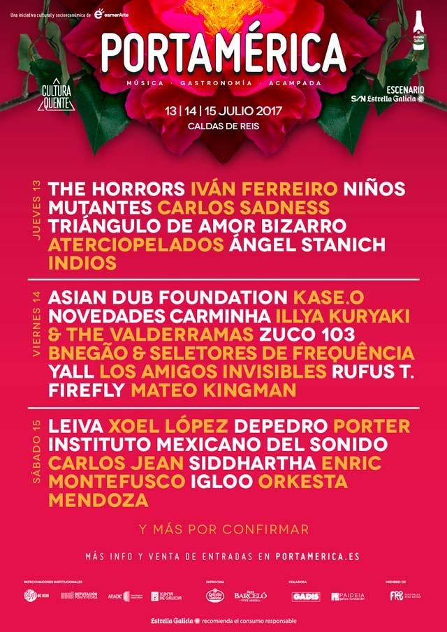 Cartel por días Festival PortAmérica 2017