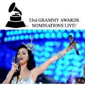 Nominaciones a la 53 edicion de los Premios Grammy