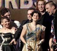 Arcade Fire también triunfa en los Brit Awards