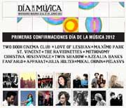 Primeras confirmaciones Día de la Música 2012