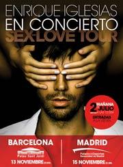 Enrique Iglesias en concierto en Barcelona y Madrid