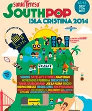 Cartel completo del South Pop Isla Cristina 2014