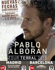 Nuevas fechas de Pablo Albor�n en Madrid y Barcelona
