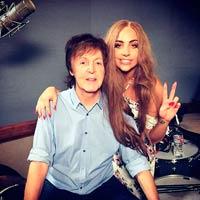 Paul McCartney graba con Lady Gaga
