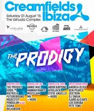 The Prodigy al Creamfields Ibiza 2015