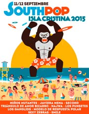 Cartel definitivo del South Pop Isla Cristina 2015