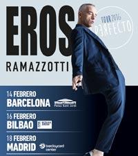 3 conciertos de Eros Ramazzotti en Espa�a en febrero de 2016