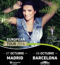 Laura Pausini en Madrid y Barcelona en octubre de 2016