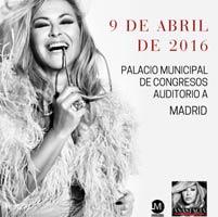 Anastacia en concierto en Barna y Madrid en abril de 2016