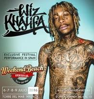 Wiz Khalifa al Weekend Beach Festival