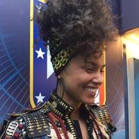 La actuaci�n de Alicia Keys en la final de Champions League