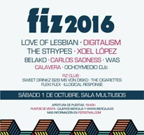 Se completa el cartel del FIZ 2016
