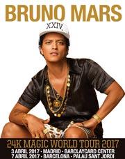 Anunciado el The 24k magic world tour de Bruno Mars
