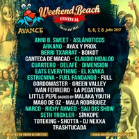 Segundo avance para el Weekend Beach Festival 2017
