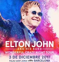 Concierto de Elton John en Barcelona en diciembre