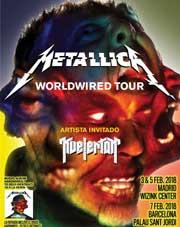3 conciertos de Metallica en España en febrero de 2018