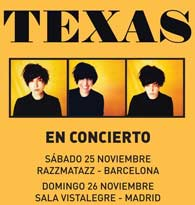 "Texas en directo en España con ""Jump on board"""