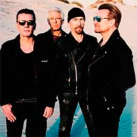 "U2 en TV con ""I still haven't found what I'm looking for"""