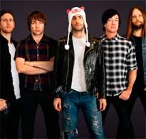 Maroon 5 de promoción en el metro de Nueva York