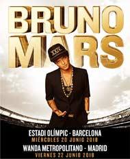 Bruno Mars en España en junio de 2018
