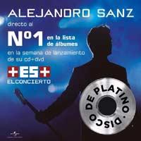 """Alejandro Sanz nº1 en discos con """"Más es más el concierto"""""""