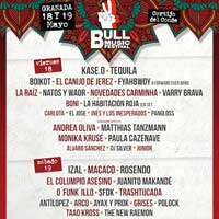 Cartel por días del Bull Music Festival en Granada