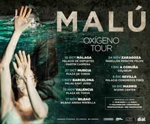Primeras fechas del Oxígeno Tour de Malú