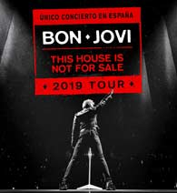 Bon Jovi en Wanda Metropolitano de Madrid el 7 de julio 2019